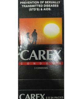 CAREX Condom. Made in Malaysia. Quantity: 24*3= 72 Pieces.