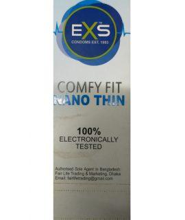 EXS Comfy Fit Nano Thin White Condom. Made in UK. Quantity: 10*3= 30 Pcs